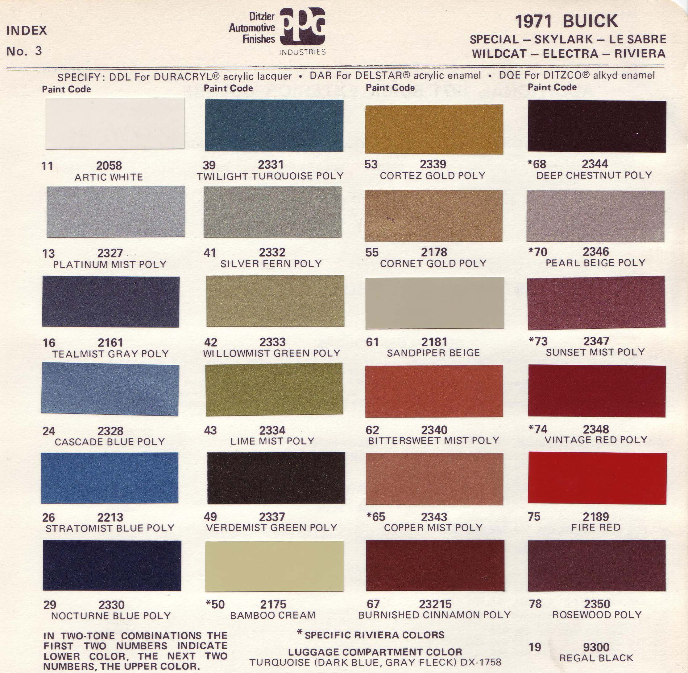 Gm Vinyl Trim Paint Color