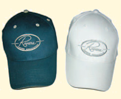 White and blue ROA ballcaps